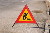 Road repairing sign — Stock Photo