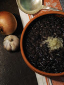 Cuban black beans dish — Stock Photo