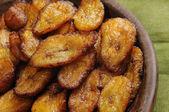 Fried bananas dish — Stock Photo