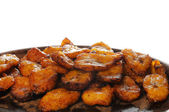 Cuban food - fried banana — Stock Photo