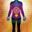 Seven Body Chakras - healing energy — Stock Photo