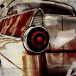 Old car in sepia paper — Stock Photo #48438839