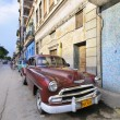 Vintage classic american car. HAVANA - 9 JULY, 2010. — Stock Photo #48486951