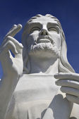 Jesus Christ statue in Havana against blue sky — Stock Photo