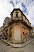 Havana street with eroded building — Stock Photo