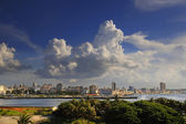 Havana cityscape from El Morro Fortress — Stock Photo