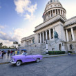 Old car and Capitol building in havana city, November 2009 — Stock Photo #48507679