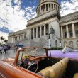 Vintage car in front of Capitol building in Havana. DEC 2009.  — Stock Photo #48508985