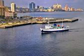 Ship arriving to havana bay — Stock Photo