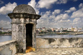 Havana city skyline from Fortress wall — Stock Photo