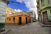 Old Havana street with colorful buildings  — Stock Photo