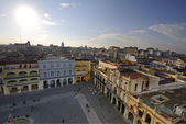 Plaza Vieja in Old Havana, Cuba.  FEB 8TH, 2010 — Stock Photo