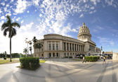 Havana Capitol panorama, cuba. dec 2009 — Stock Photo