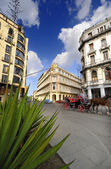 Havana cityscape with historical Hotel Plaza, cuba. January 2010 — Stock Photo