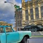Havana car and revolution palace — Stock Photo #48569535
