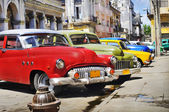 Colorful Havana cars — Stock Photo