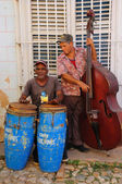 Musicians in Trinidad street, cuba. October 2008 — Foto de Stock