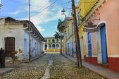 Tropical buildings in Trinidad, cuba — Stock Photo