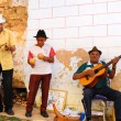 Street muscians in Trinidad, Cuba. Taken in OCT 2008 — Stockfoto