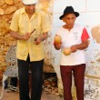 Senior musicians playing in the street of Trinidad, cuba. OCT 2008 — Foto de Stock