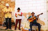 Muscians ulica w trinidad, kuba. podjęta w październiku 2008 — Zdjęcie stockowe