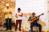 Street muscians in Trinidad, Cuba. Taken in OCT 2008 — Stock Photo