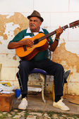 Traditional musician in Trinidad street, cuba. OCT 2008 — Stockfoto