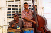 Street traditional musicians in Trinidad, cuba. OCT 2008 — Foto de Stock