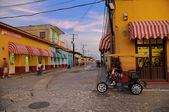 Commercial street in Trinidad, cuba, OCT 2008. — Stockfoto