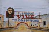 Che Guevara communist propaganda, Cienfuegos, cuba. OCT 2008 — Stock Photo
