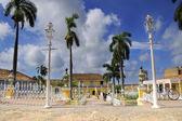 Plaza mayor in trinidad town, cuba — Stock Photo
