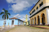View of Plaza Mayor in Trinidad. Cuba. OCT 2008 — Foto de Stock