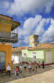 Tourists in trinidad town, cuba. October 2008 — Foto Stock