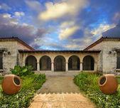 Tropical cuban house — Stock Photo