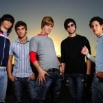 Trendy team of young men — Stock Photo