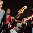 Young musican band — Stock Photo