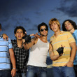 Cool friends posing — Stock Photo