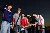 Young musical group — Stock Photo
