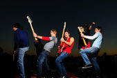Young musical band — Stock Photo