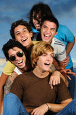 Young happy people — Stock Photo