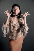 Retro fashion woman — Stock Photo