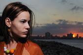 Sonnenuntergang porträt — Stockfoto