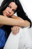 Pensive hispanic woman — Стоковое фото