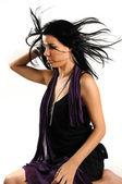 Uzun saçlı latin kız — Stok fotoğraf