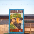 Old factory in Havana with the image of Fidel Castro — Stock Photo #49434959