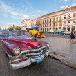 Old car in Havana street — Stok fotoğraf