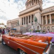 Car in front of Havana Capitol building — Stock Photo #49435425
