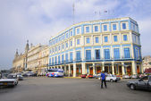 Hotel Telegrafo in Centric Havana street  — Stock Photo