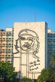Che Guevara image in front of Revolution square, Havana — Stock Photo