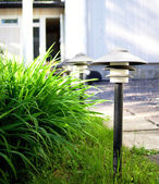 Front yard lamps — Stock Photo
